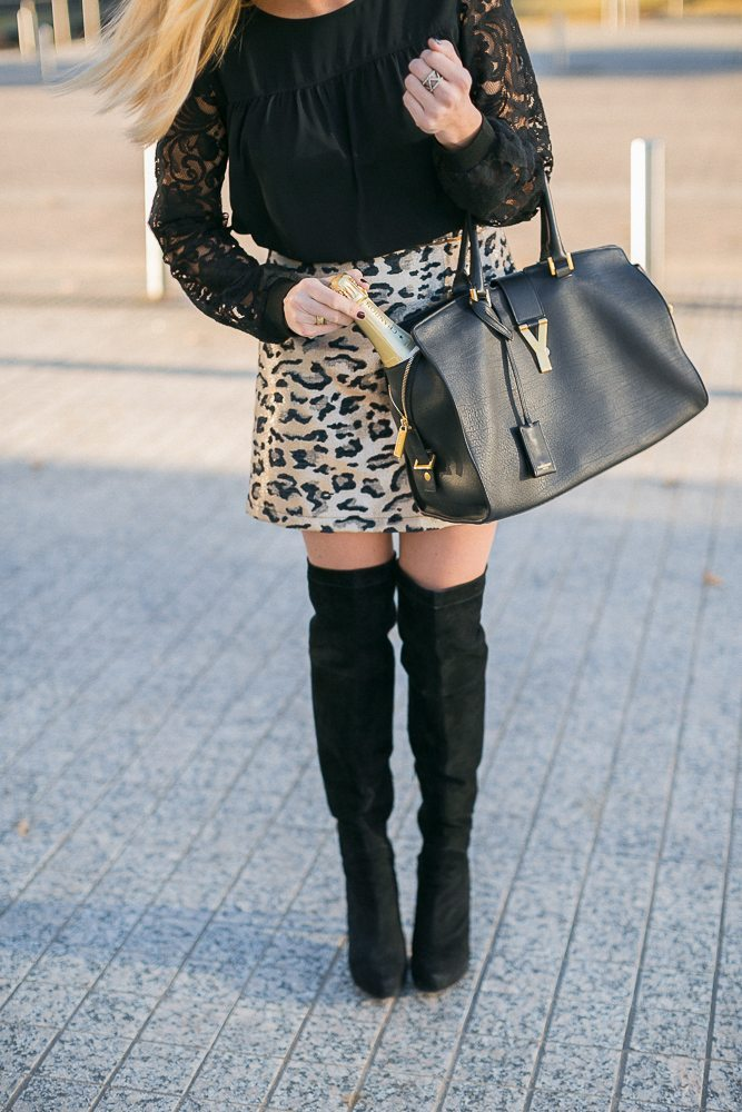 topshop leopard print skirt-black otk boots-new years outfit