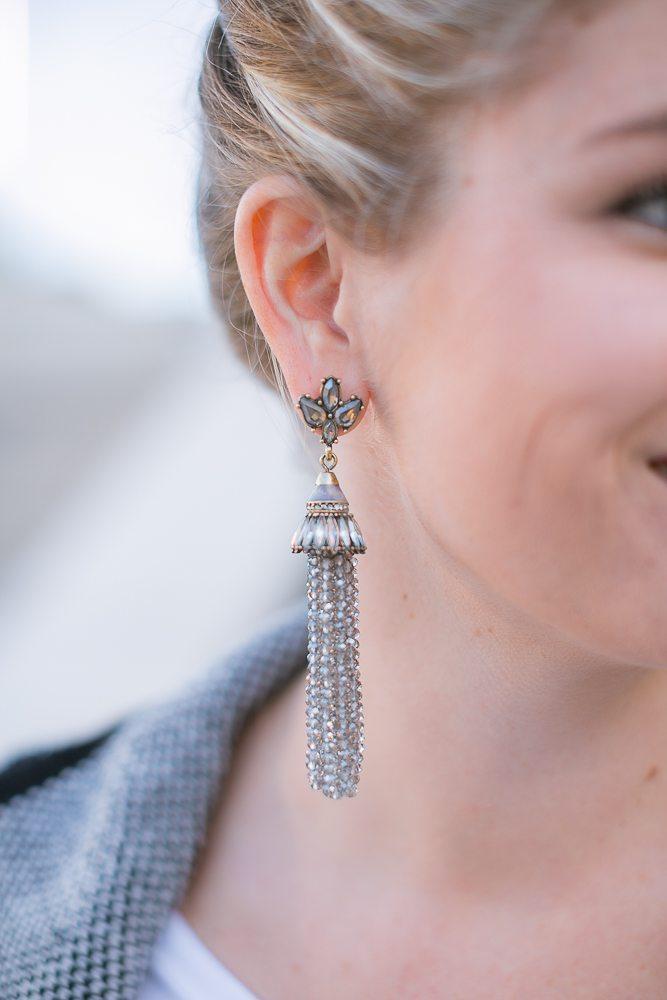baublebar gray tassel earrings