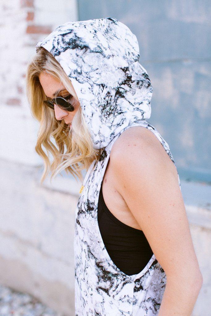 sleeveless marble hoodie varley