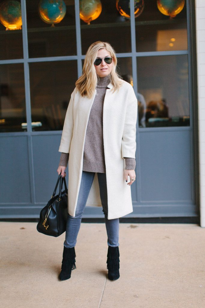 Winter White Coat | Winter Outfit Inspiration
