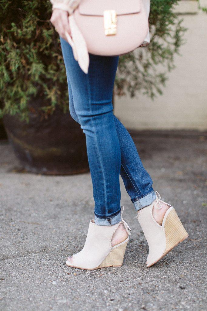 peep toe bootie-kristin cavallari wedge sandal