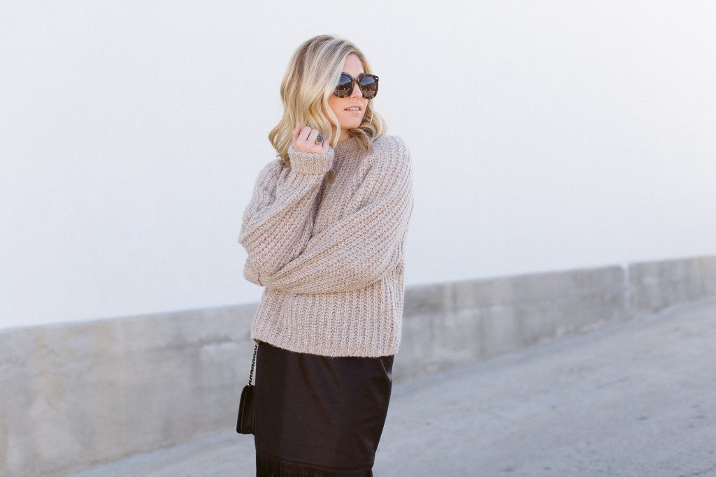 oversized ribbed sweater