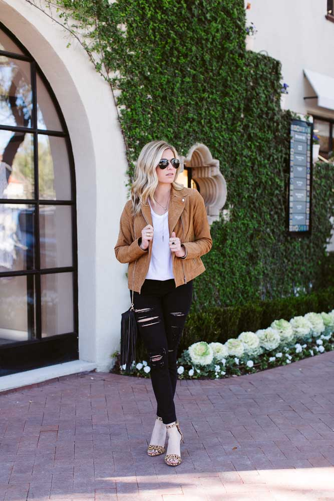 suede moto jacket-black ripped jeans-leopard heels-dallas fashion blogger
