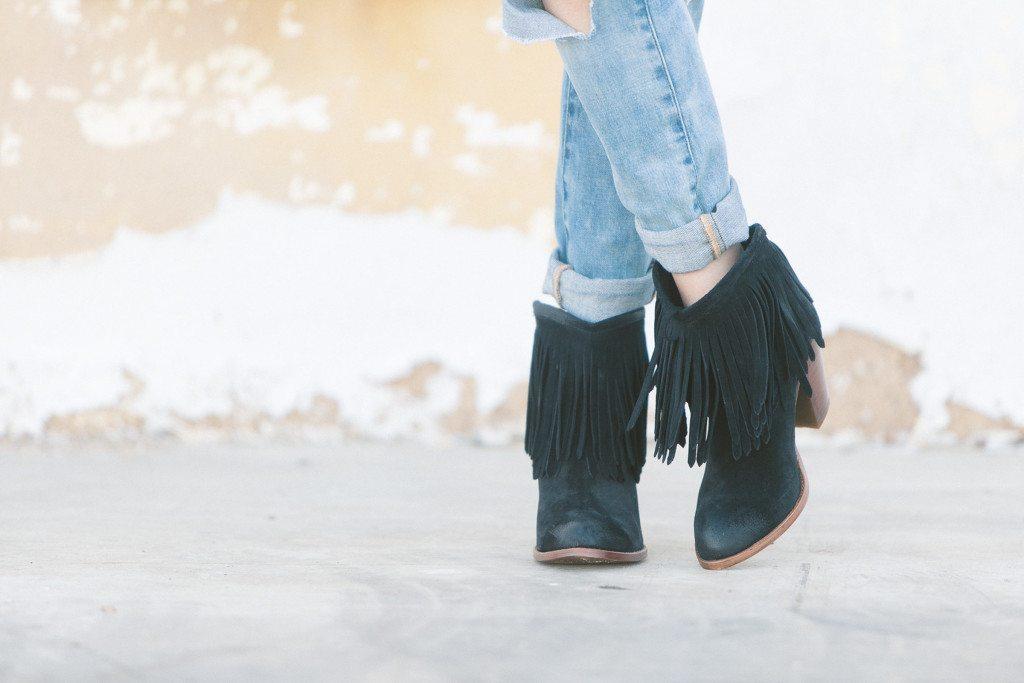 ilana fringe boots frye-black fringe booties