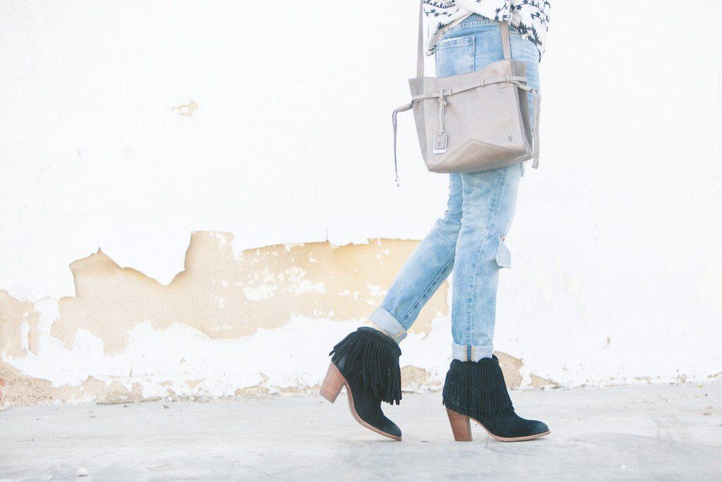 frye black fringe booties-frye fringe booties-grey crossbody purse
