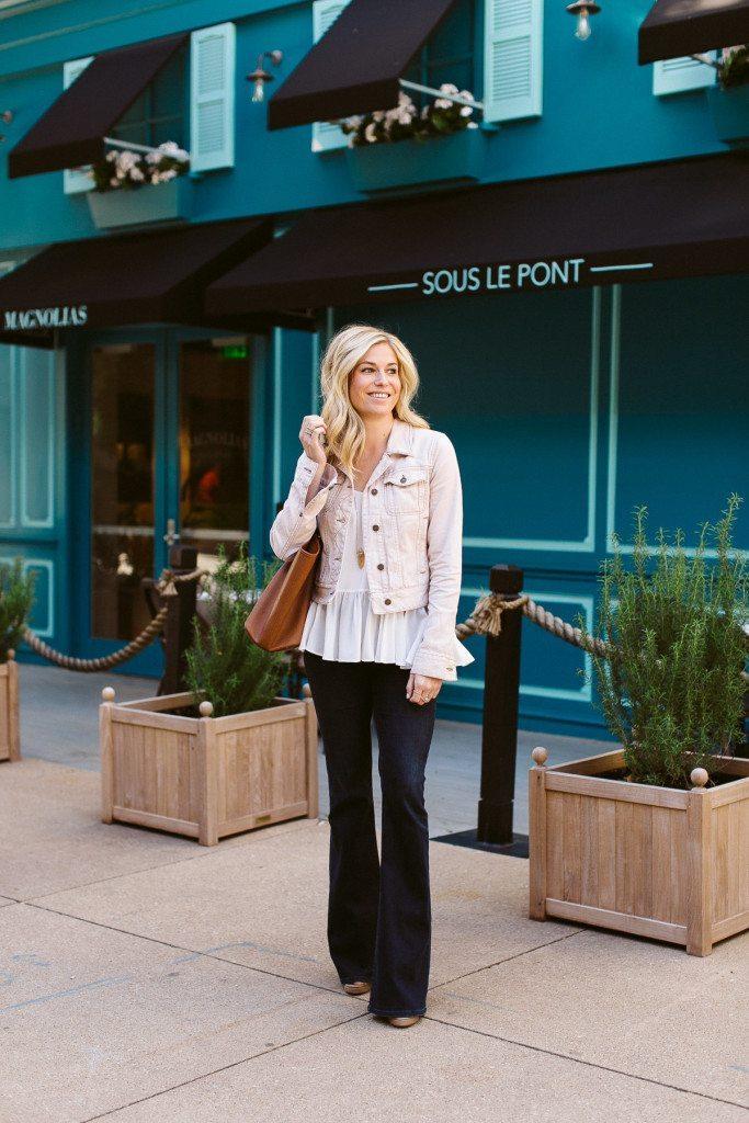 free people pink denim jacket-denim on denim outfit-dallas fashion blogger