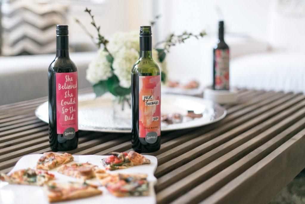 speak wines-marble serving tray-girls wine night party