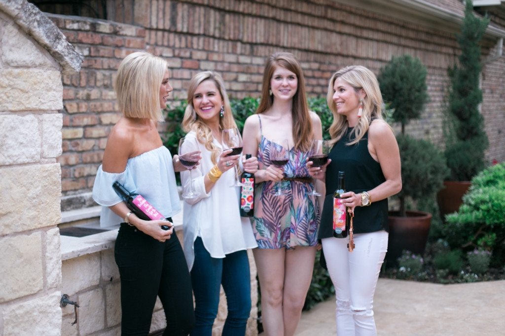 girls night with speak wines-dallas bloggers