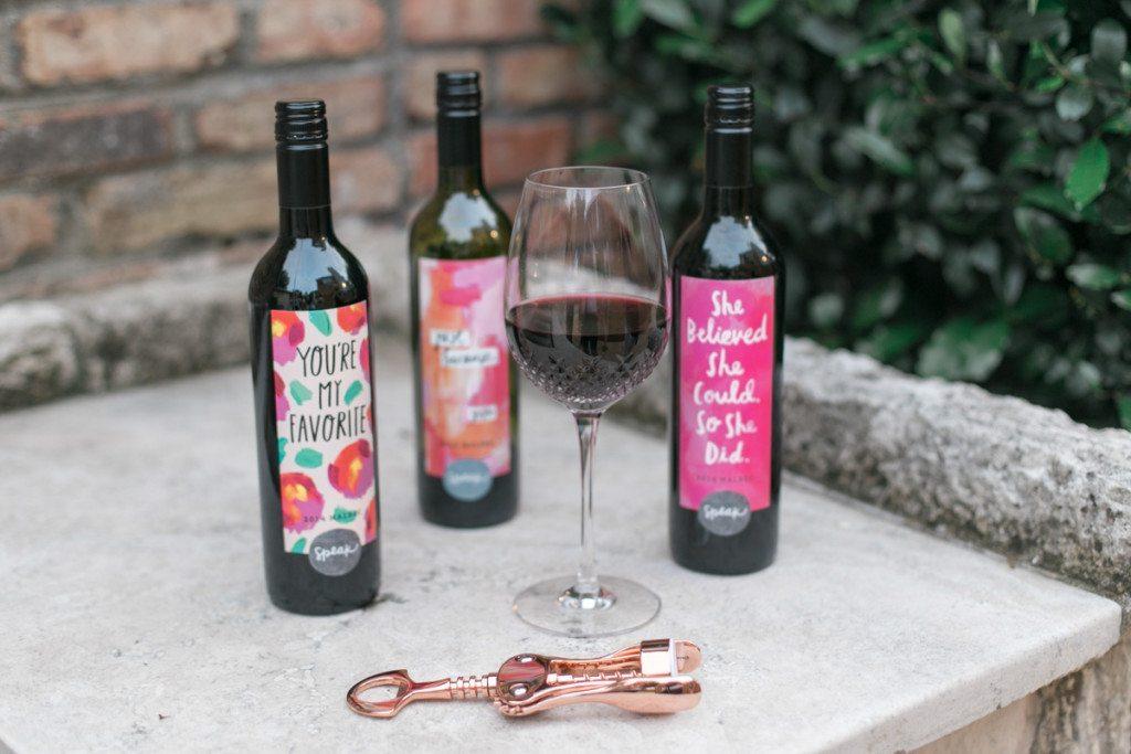speak wines custom wine labels