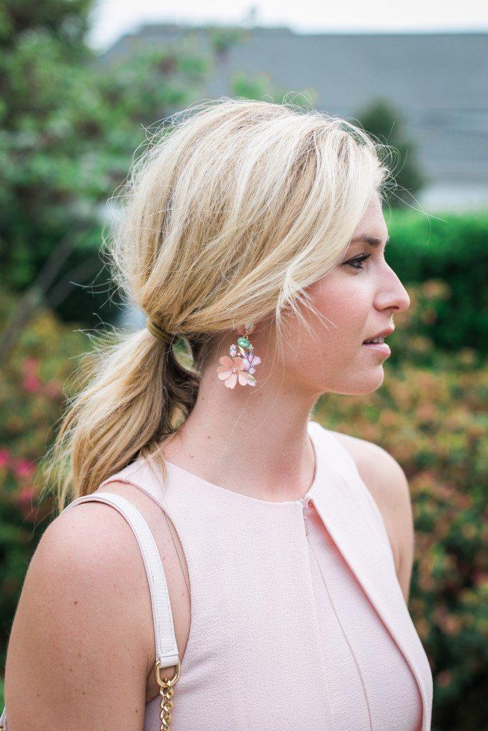 pink floral drop earrings baublebar