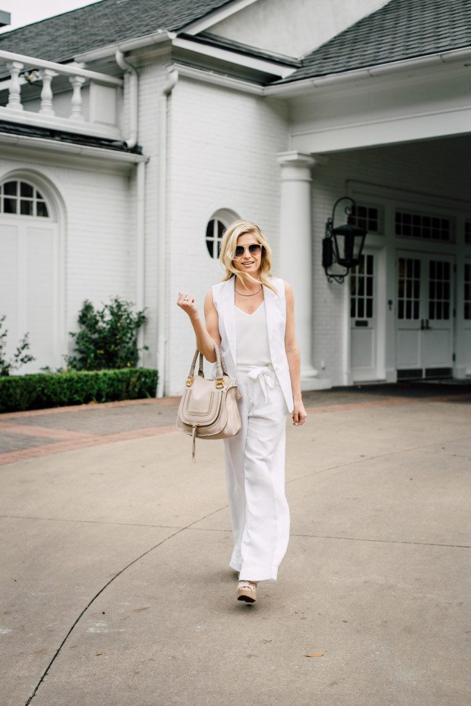 all white summer outfit idea