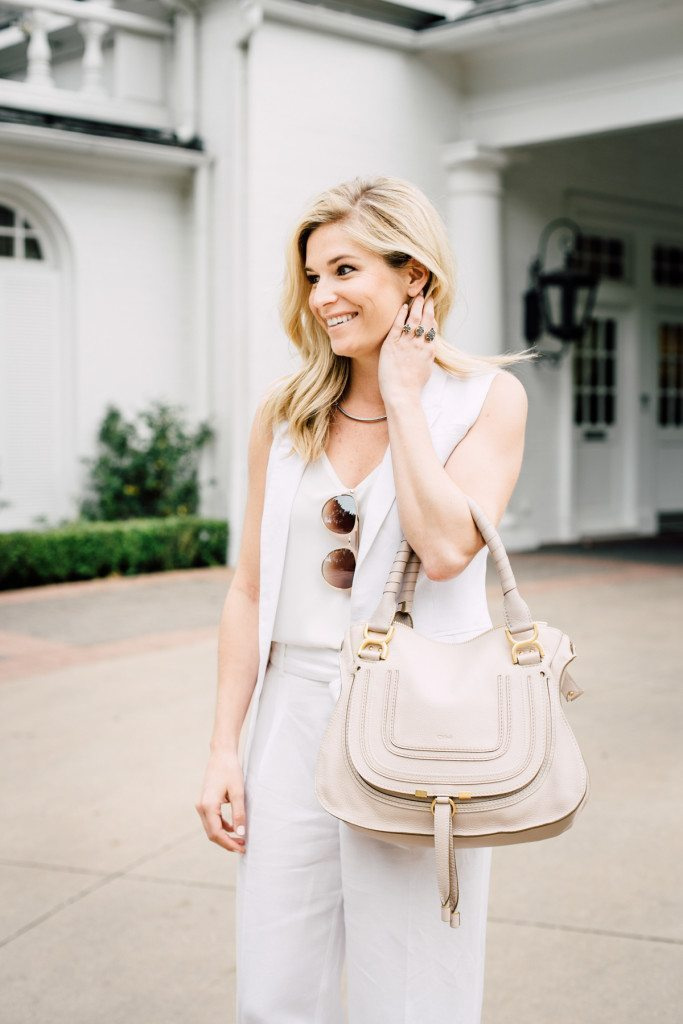 chloe marcie bag off white-all white summer outfit