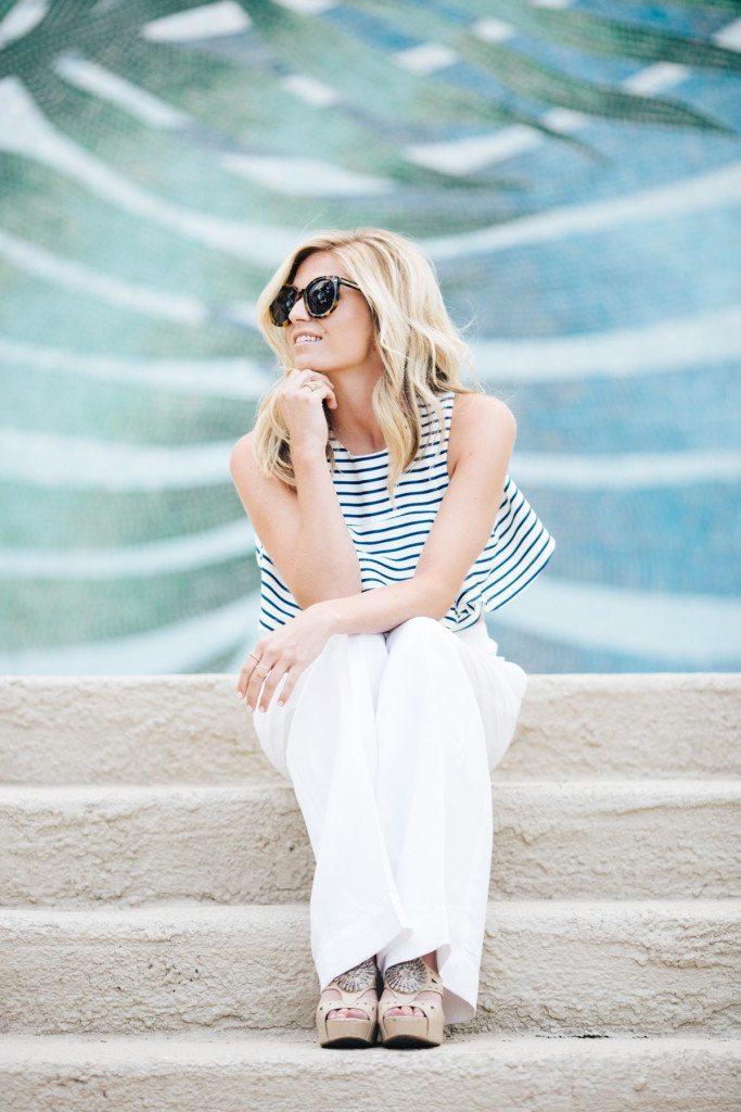 joa flounce top-sailor stripe top-beach vacation outfit-dallas fashion bloggers