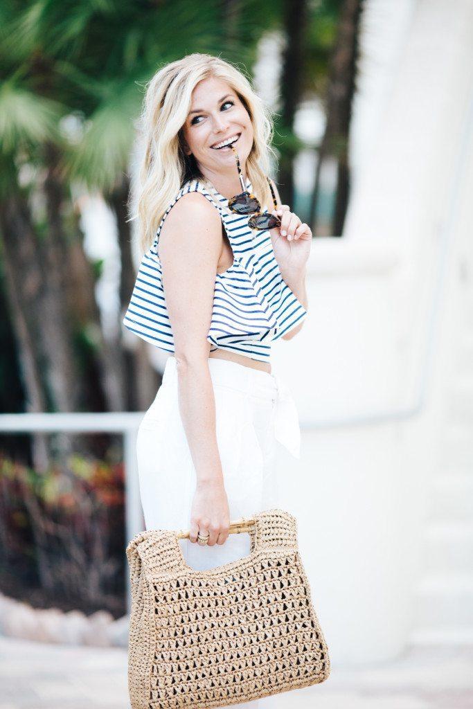sailor stripe ruffle top-fashion blogger dallas