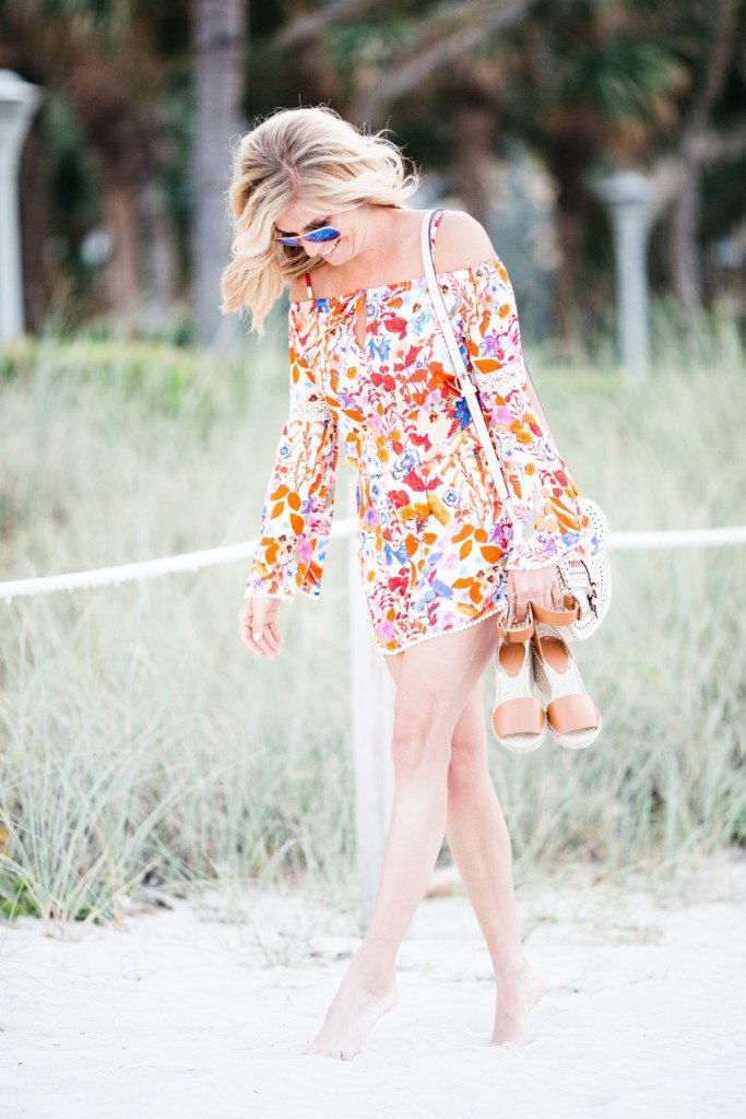 red romper - beach fashion - fashion advice - style inspiration - miami beach vacation