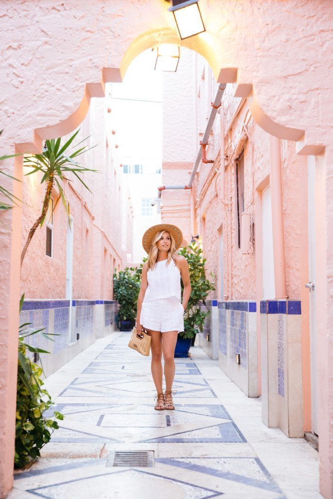 havana nights - miami beach - vacation outfit ideas - all white outift idea - summer style - spring travel outfit - straw hat and white combo - travel blogger