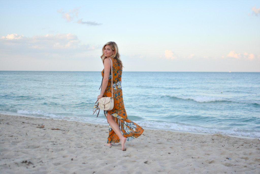 yellow floral maxi dress - floral trends - beach fashion - resort style - travel blogger - miami beach - vacation style