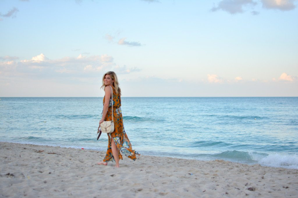 yellow floral maxi dress - travel blogger - miami beach - maxi dress - floral trends - summer styles 2016 - spring travel outfits - vacation outfit guide - beach style