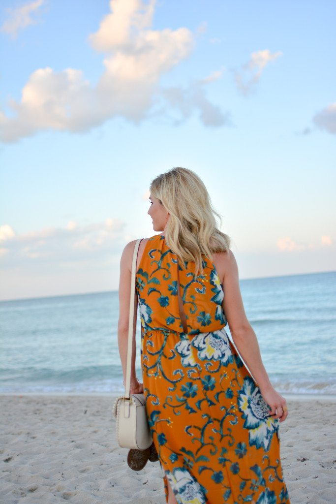 yellow floral maxi dress - dallas fashion blogger - maxi dress - beach vacation - summer style - spring style - maxi dress outfit - beach packing guide - vacation style