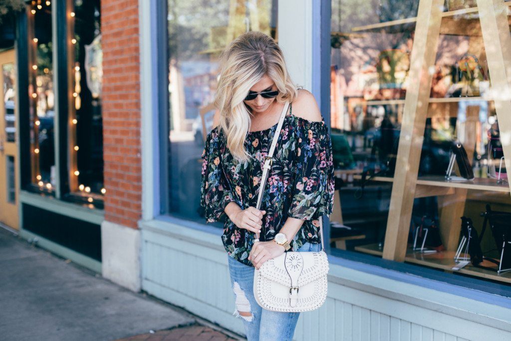 dallas blogger - summertime outfit - black top
