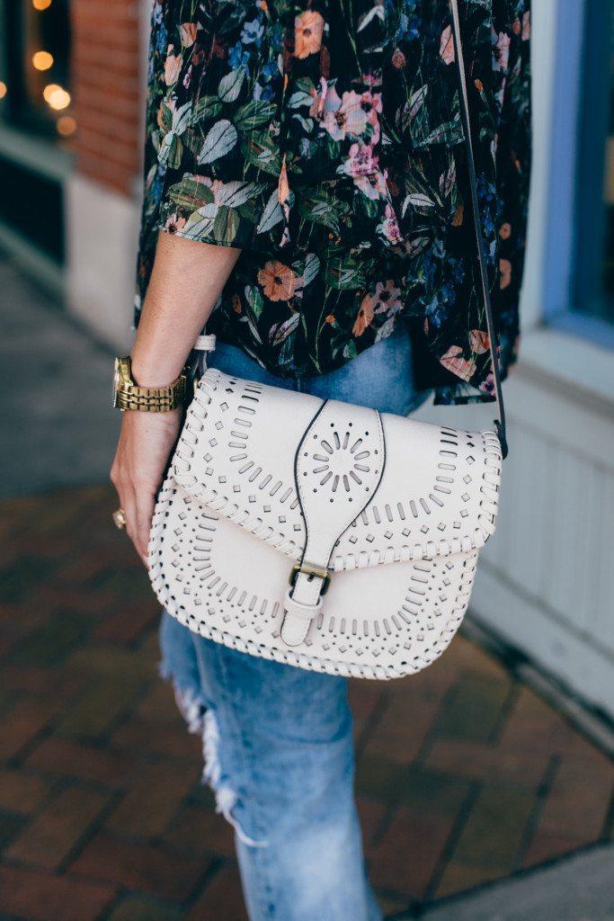summer dinner outfit - crossbody purse - gold watch