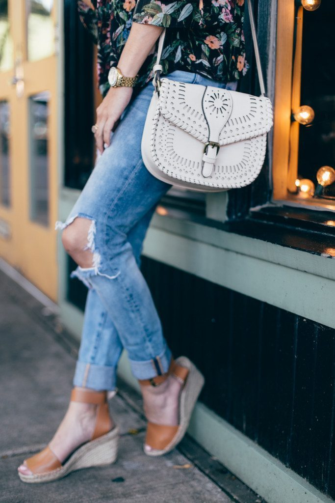 denim ripped jeans - sole society crossbody purse - off white crossbody purse - soludos leather espadrilles