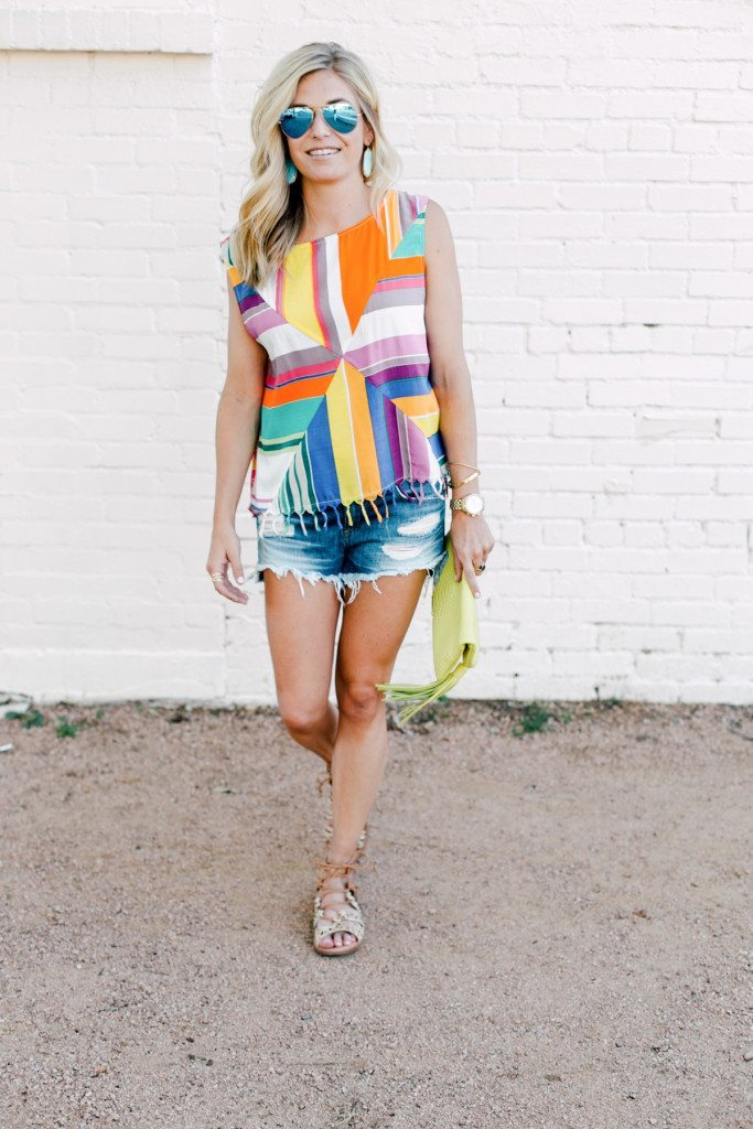 tassel hem top - summer style inspiration - casual summer outfit inspiration - dallas style blog