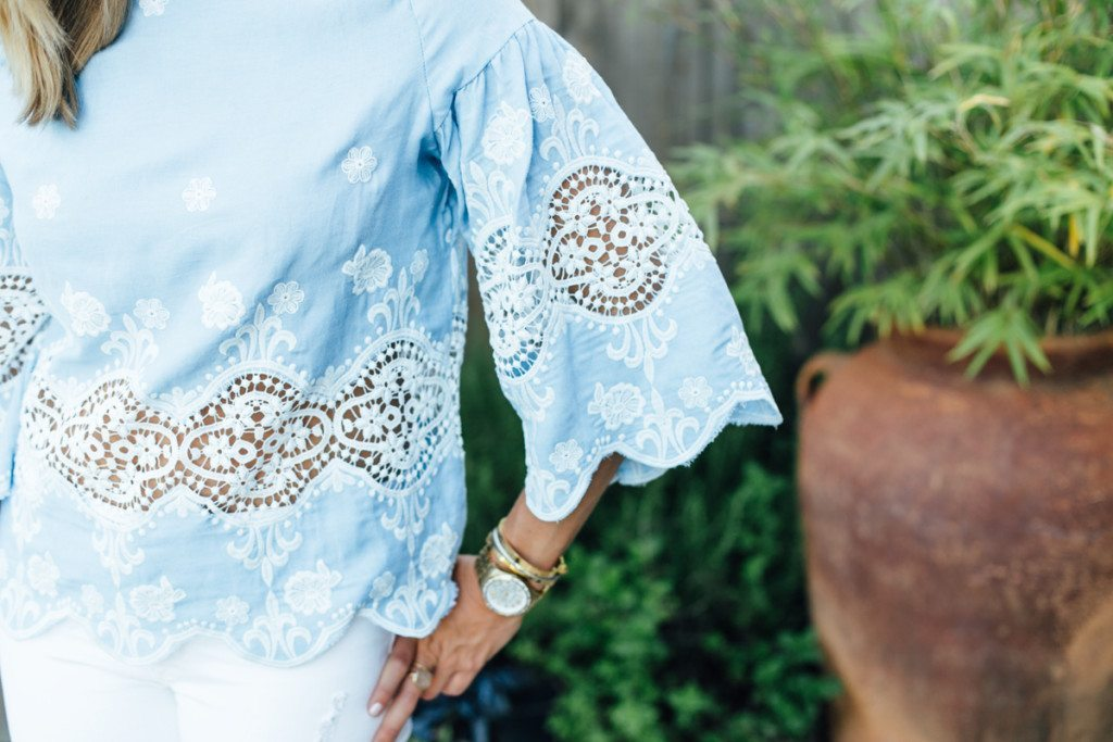 lace top - lace essential - gold watch