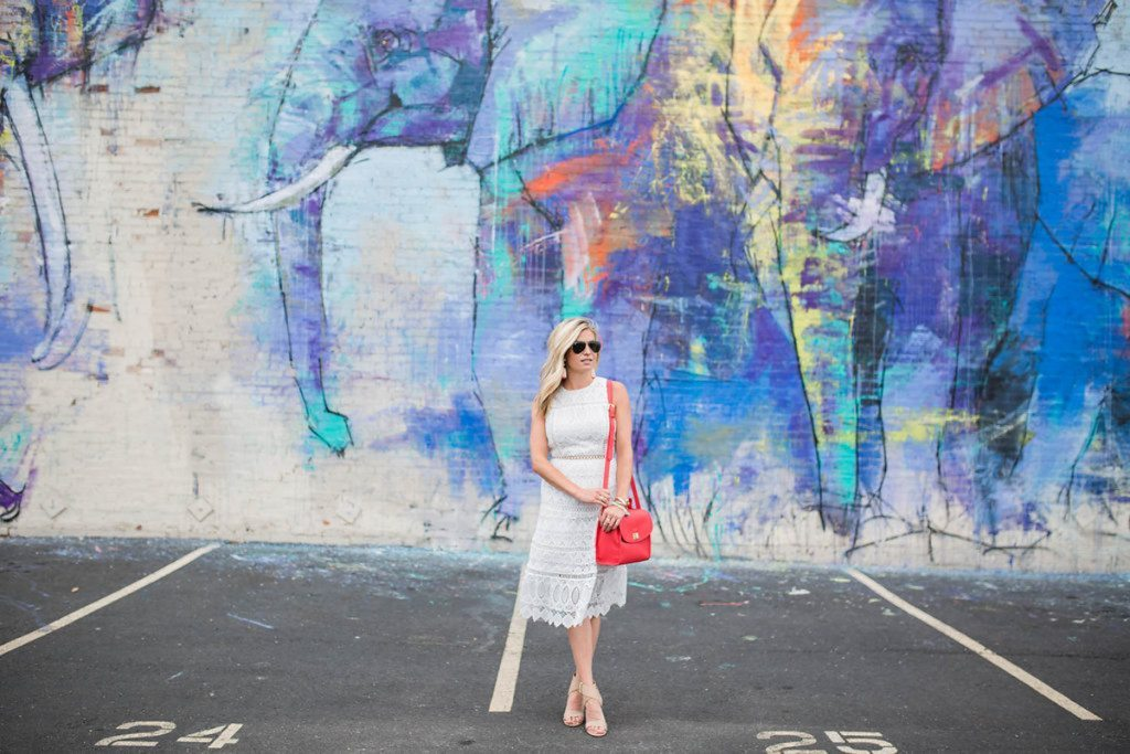 GiGi New York - Chic at Every Age - red crossbody satchel - gigi ny crossbody - white lace dress - summer dress outfit idea - dallas fashion blogger