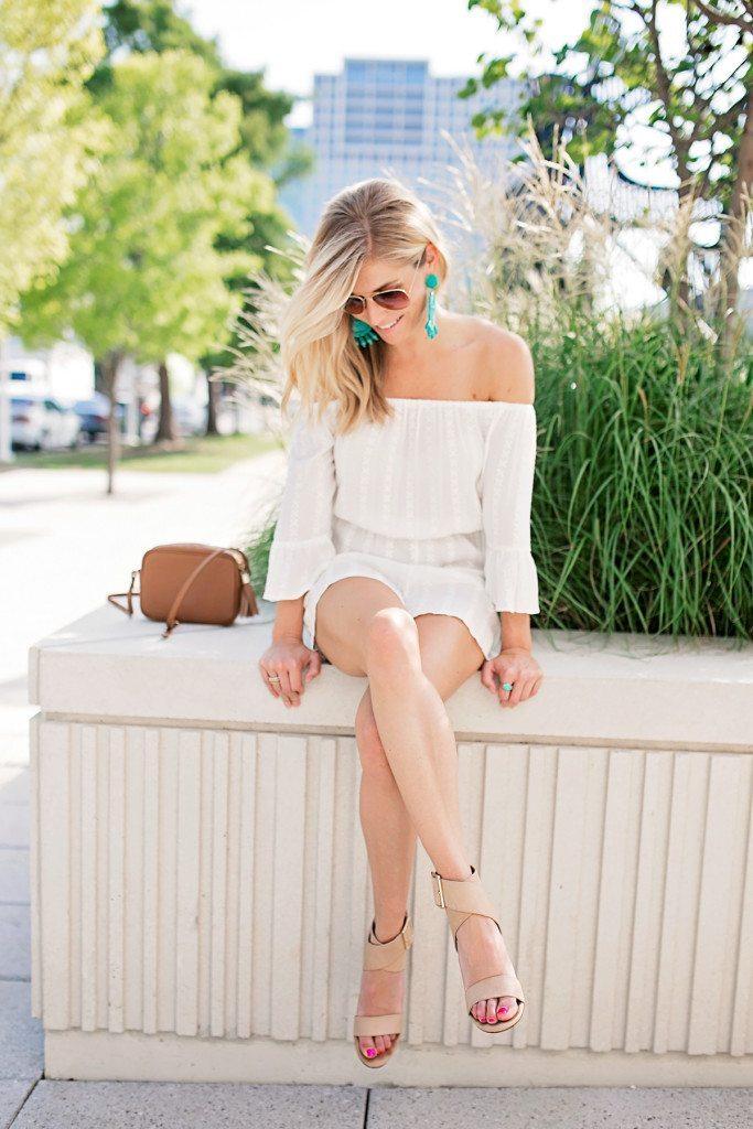 white summer romper