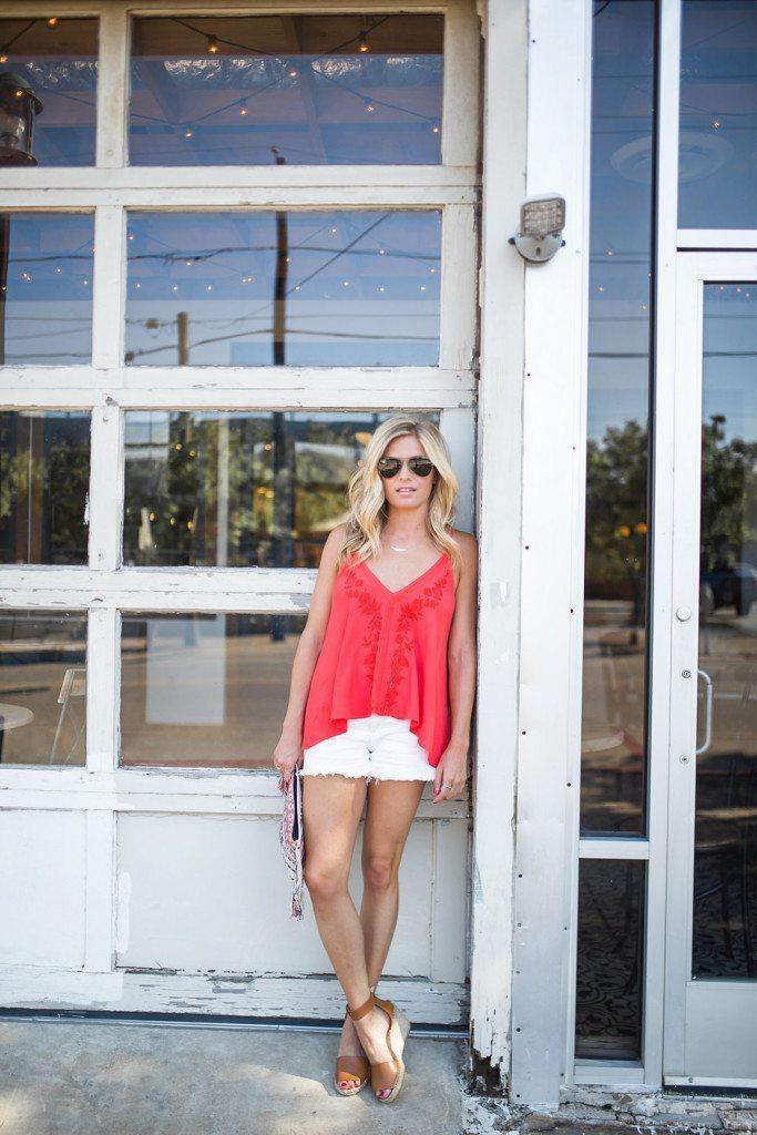 red embroidered tank - dallas fashion blogger - brooke burnett