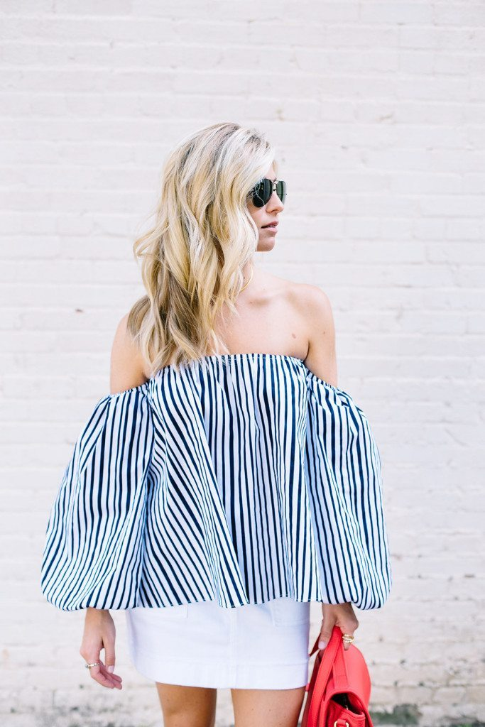 chicwish off the shoulder top - what to wear for fourth of july - how to wear off the shoulder top