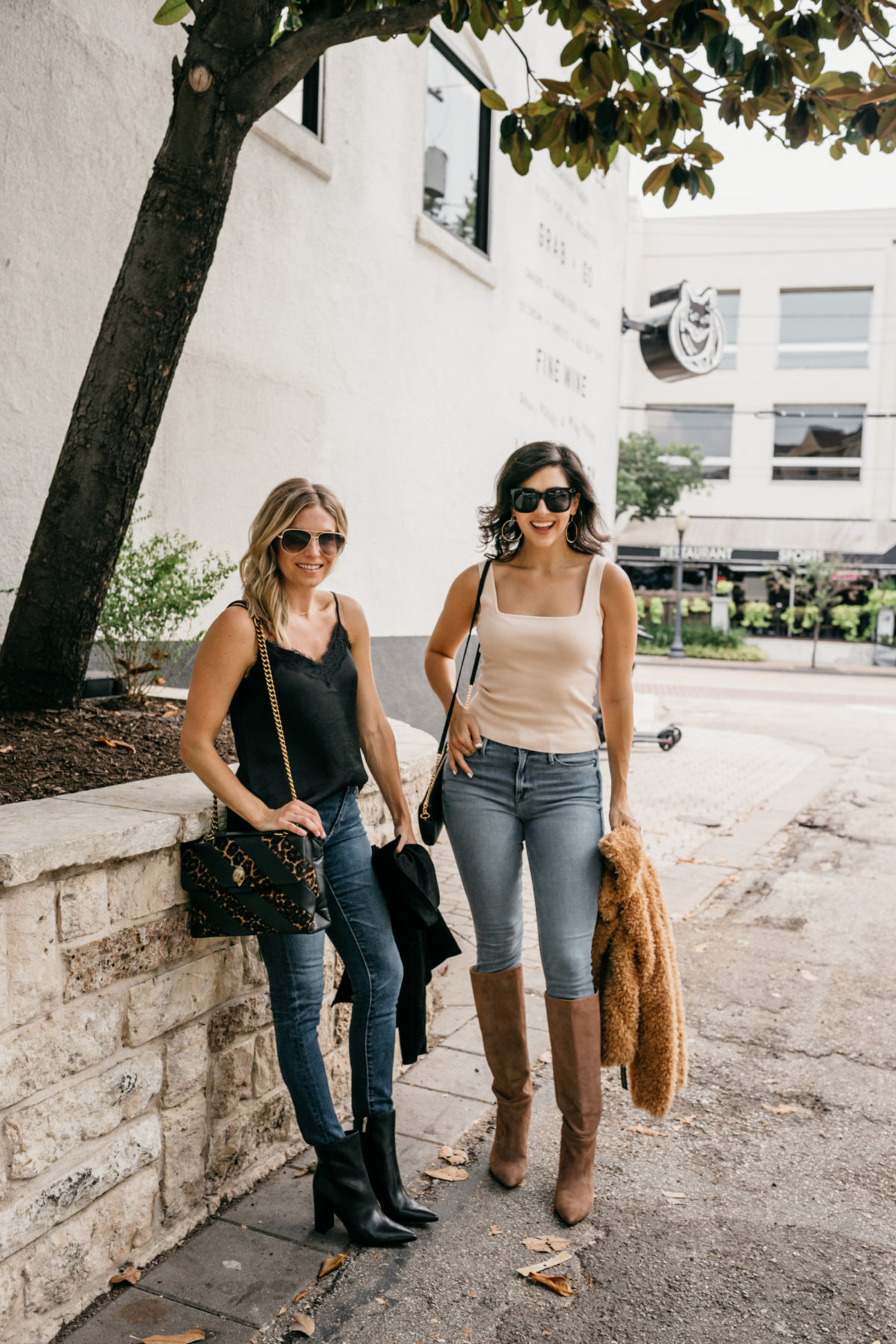two women wearing jeans from Nordstrom Anniversary Sale Jeans