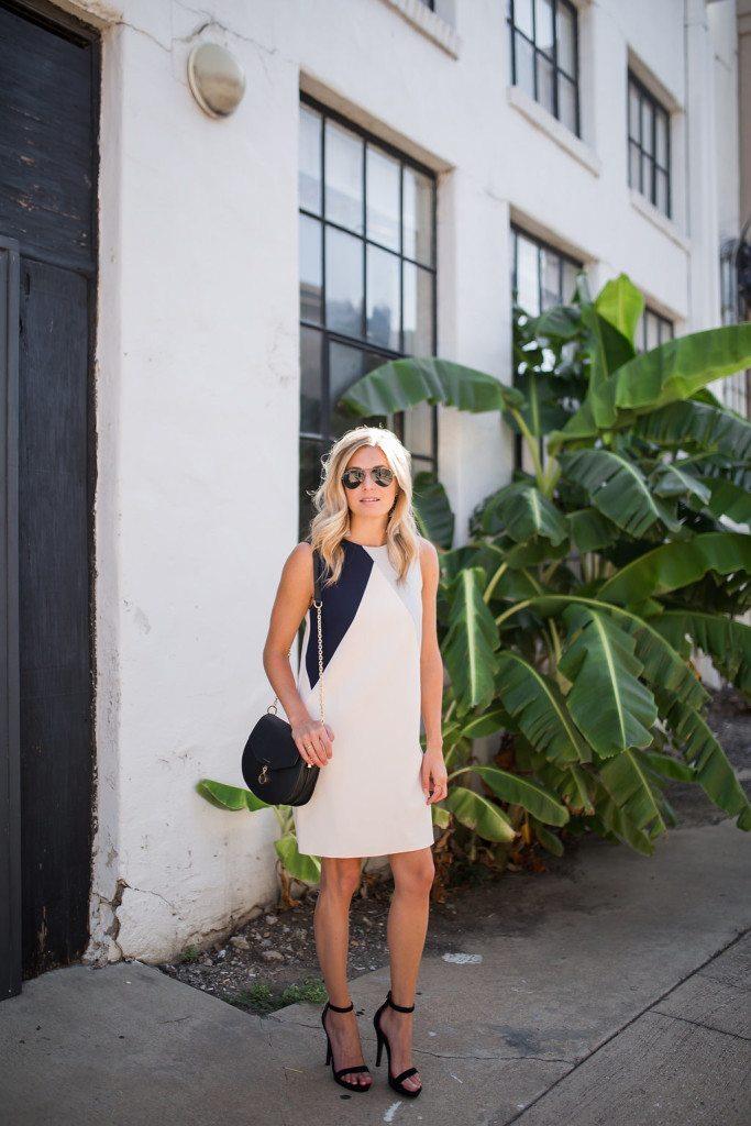 color block shift dress - nordstrom anniversary sale dress - dallas fashion blog