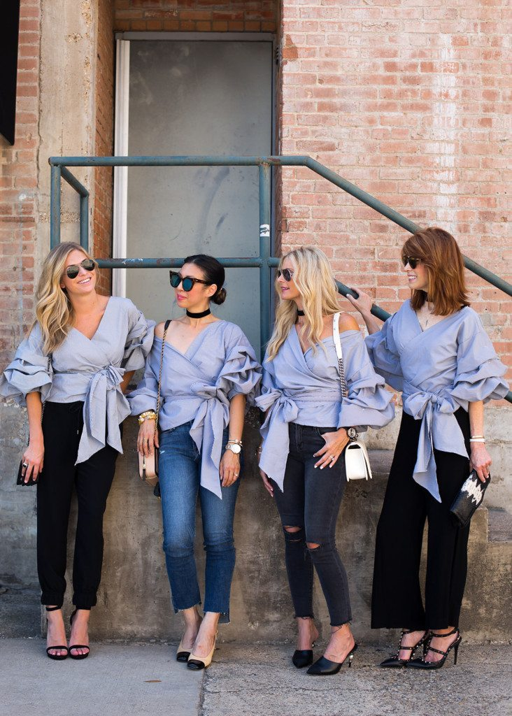 check print ruched top - chic at every age - dallas fashion bloggers
