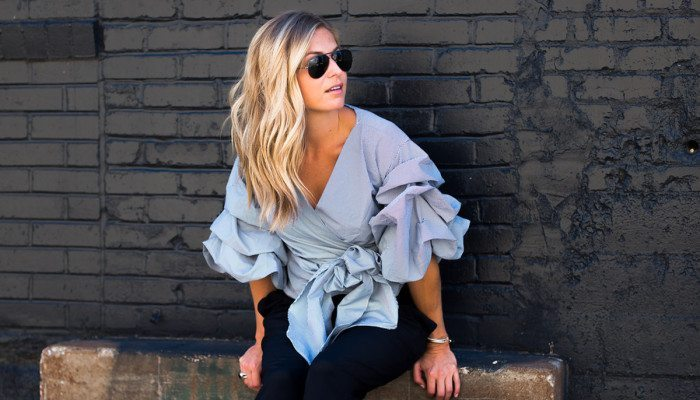 RUCHED SLEEVE TOP // CHIC AT EVERY AGE