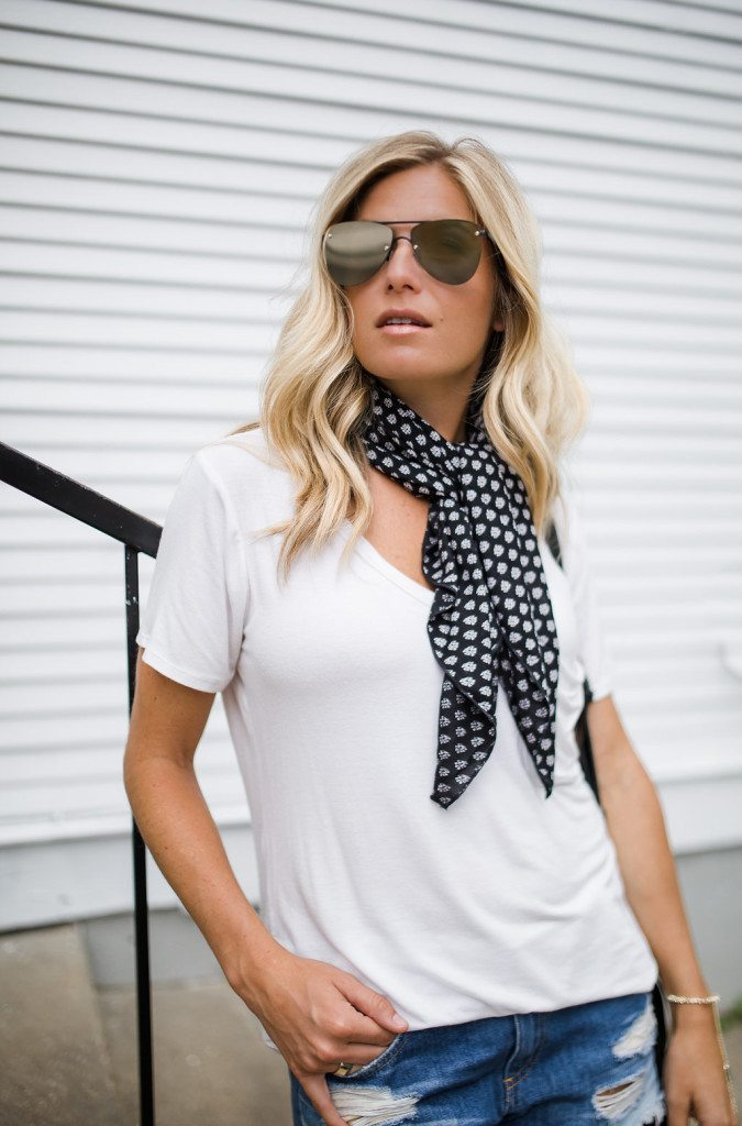 necktie scarf - chic at every age outfit