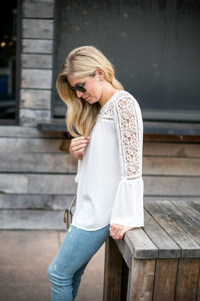 lace poet blouse - loft lace blouse