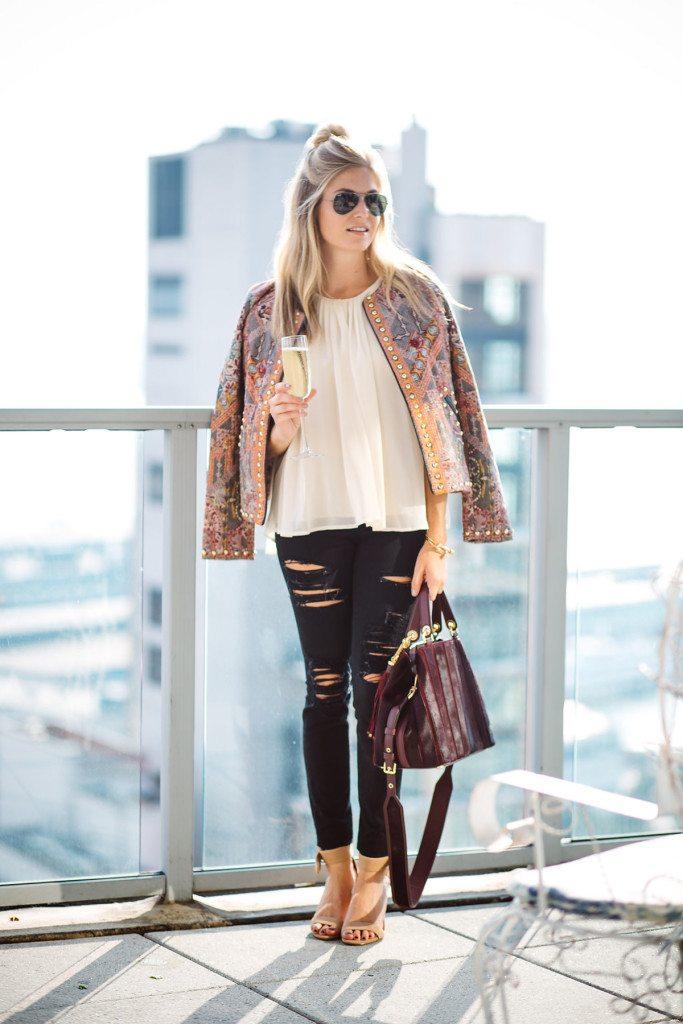anthropologie studded quilt jacket - nyfw outfit inspiration - nyfw street style - nyfw studded jacket - dallas fashion blog - brooke burnett