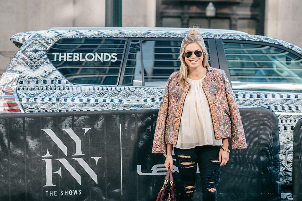 nyfw 2016 - quilted studded jacket - the blonds nyfw - brooke burnett