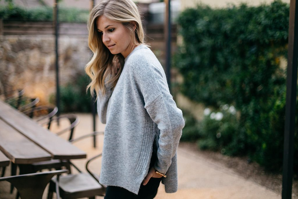 topshop zip side sweater