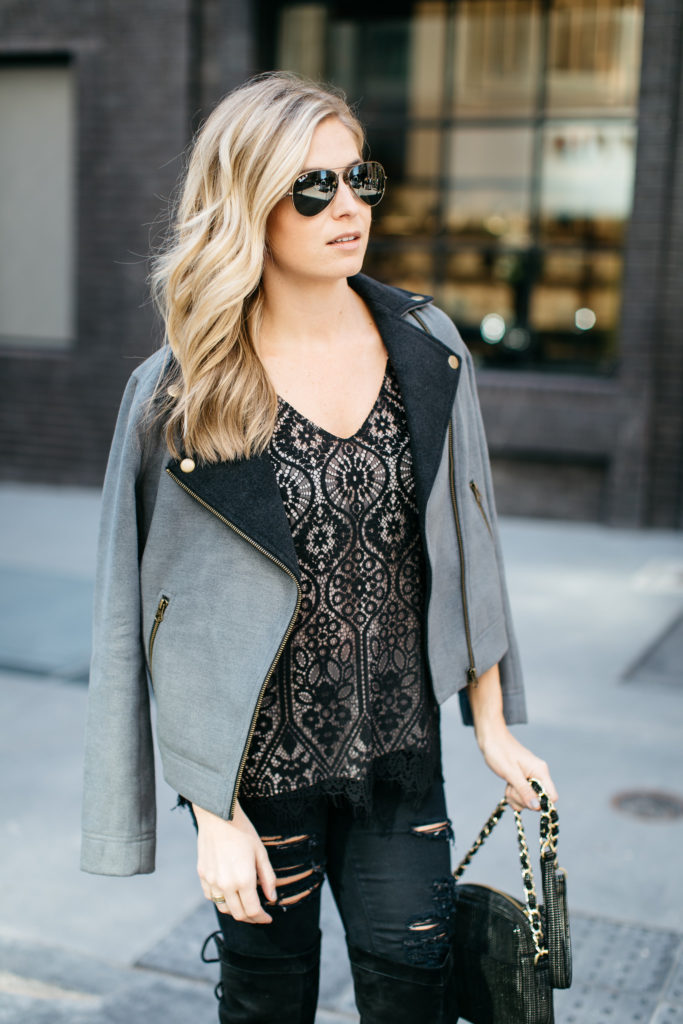black lace cami - loft cyber monday