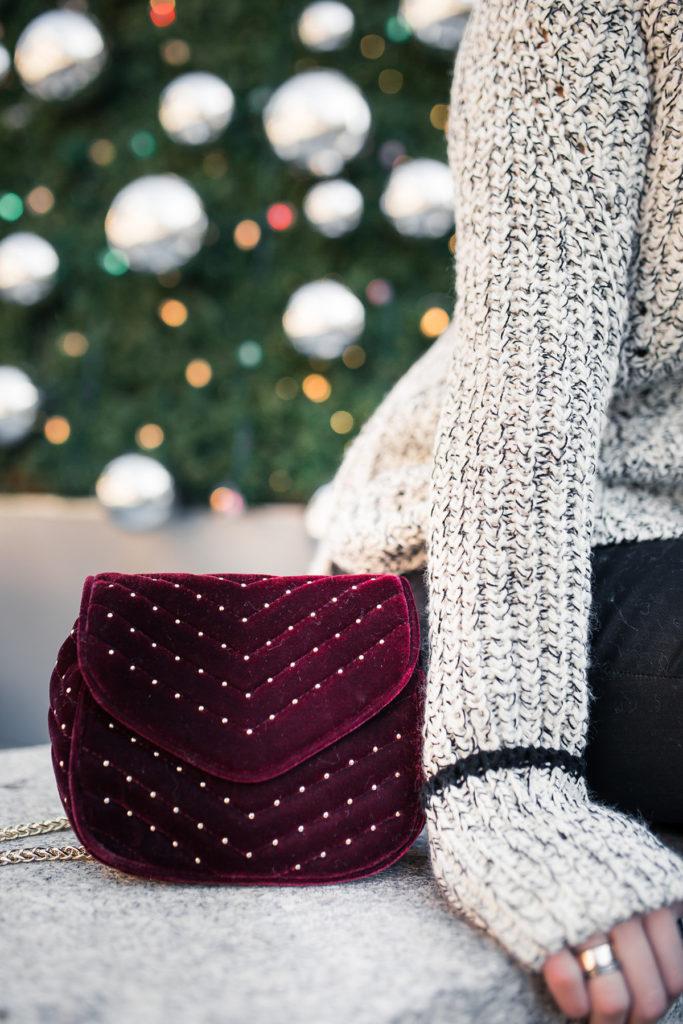 embellished velvet crossbody bag topshop - burgundy velvet crossbody