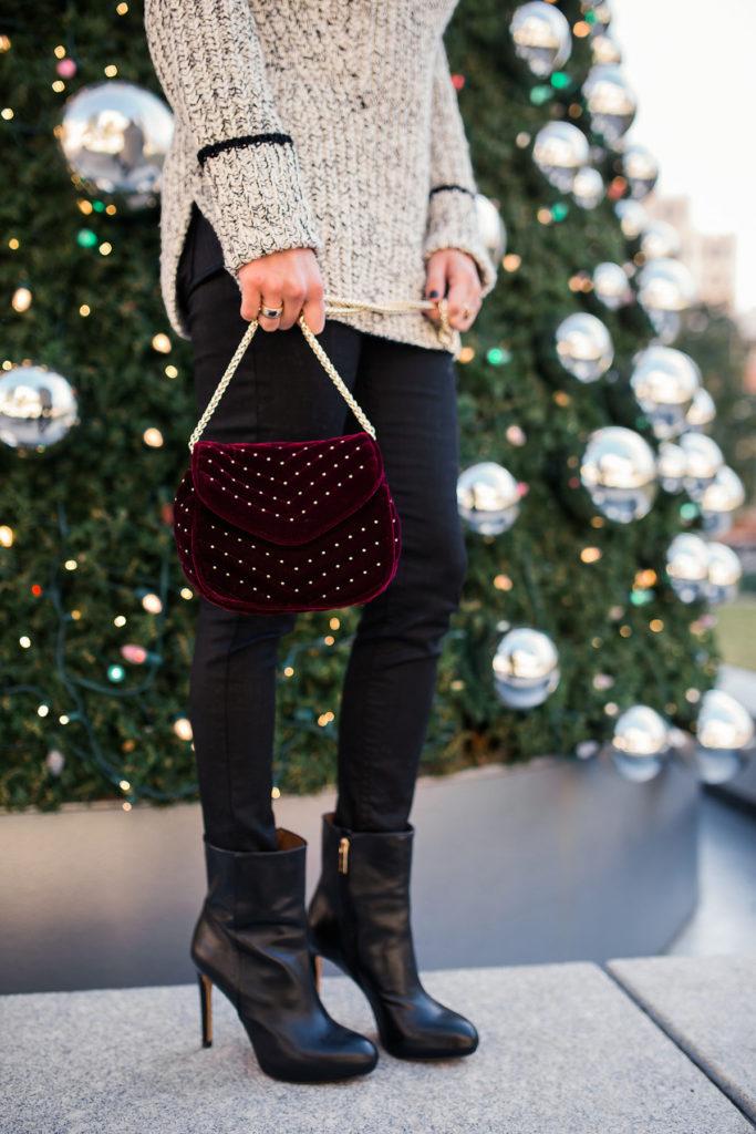 embellished velvet crossbody bag topshop - burgundy velvet chain crossbody