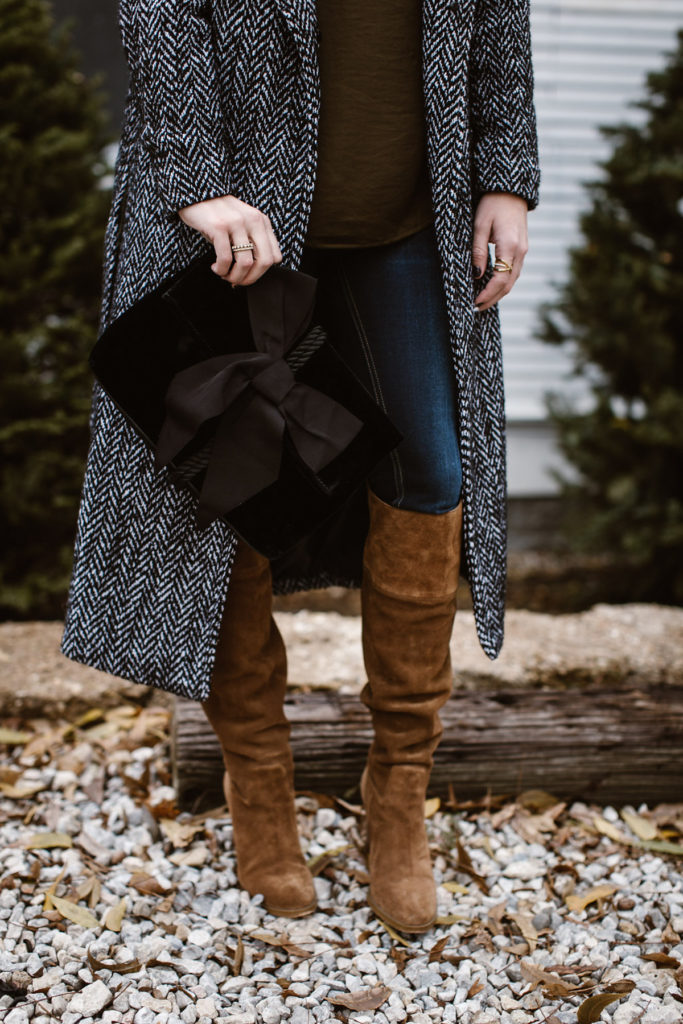long tweed coat for winter