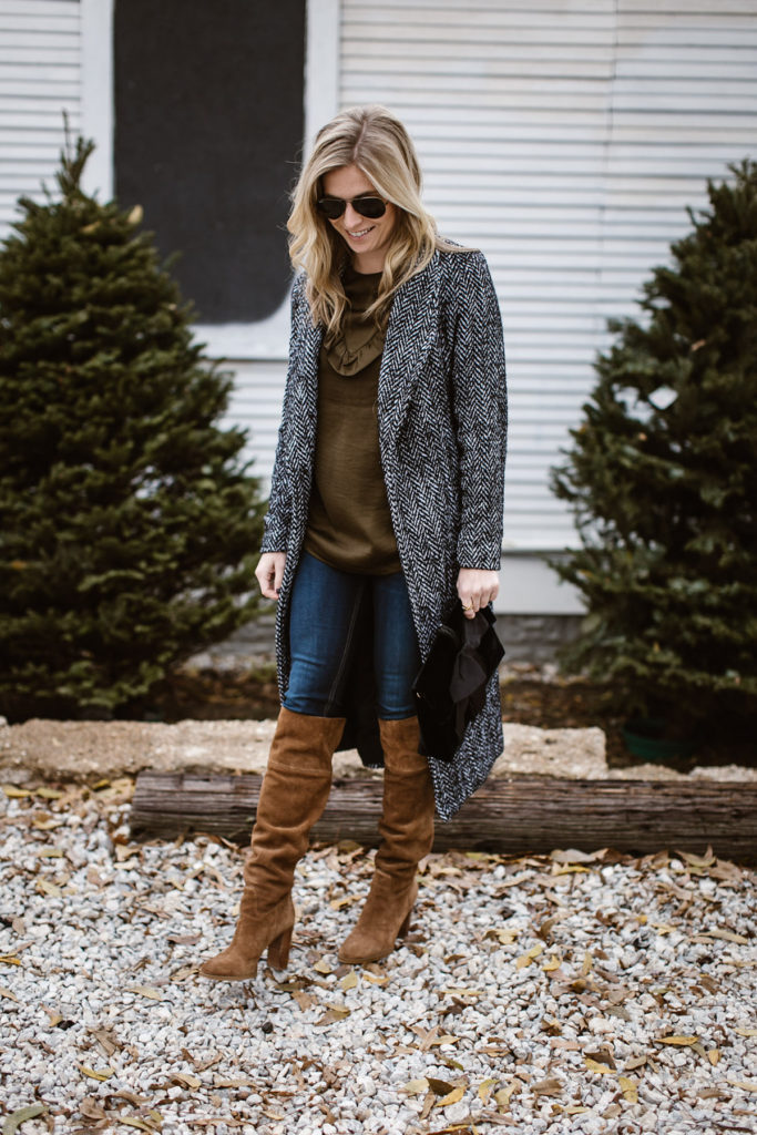 tweed duster coat - long tweed coat - dallas fashion blogger