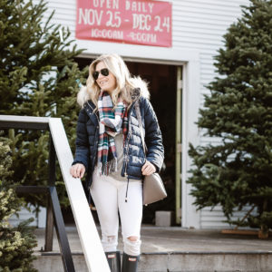 CHRISTMAS TREE FARM STYLE | NAVY PUFFER ...