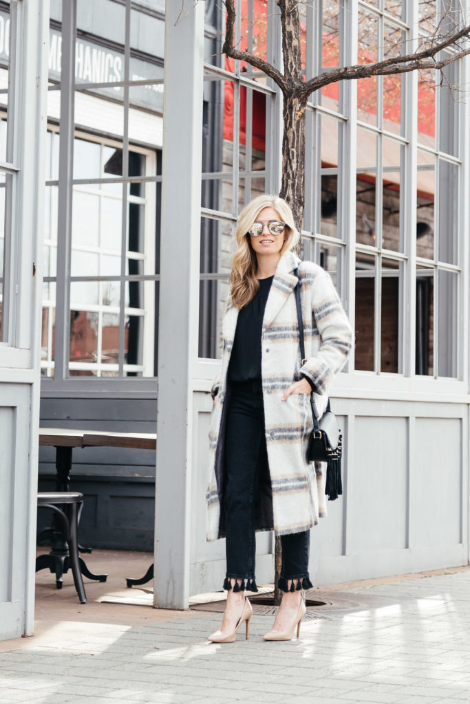 plaid coats 2017 - winter outerwear trends - brooke burnett