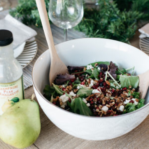 WINTER BERRY SALAD + TURKEY MEATLOAF