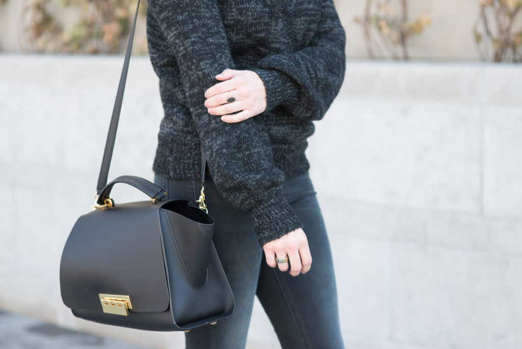 best winter boots and sweaters sale - zac zac posen ertha bag black